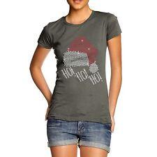 Twisted Envy Women's Happy Santa Hat Rhinestone Diamante T-Shirt
