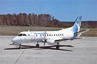 FINNAVIATION Saab SF340A OH-FAA c/n 340A -065 Airline Airplane Postcard