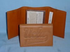 UCLA BRUINS   Leather TriFold Wallet   NEW!    tan  bb