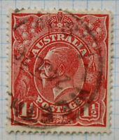Australia sc#63 scarlet rose wmk 11 1 1/2d perf p14 uncatalogued unlisted combo