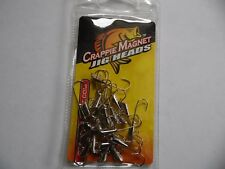NEW    CRAPPIE MAGNET -  HEADS 25 pc PK   NICKLE 1/16oz