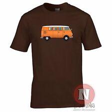 VW Campervan Camiseta Clásico VDUB Retro Auto Hippy Festival Surf