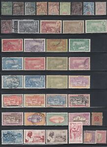 FRENCH AFRICA GAUDELOUPE COLLECITON INCLUDING OVERPRINTS/SETS USED/MINT 382