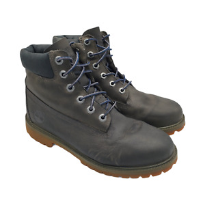 """Timberland 6"""" Leather Hiking Boots Mens Size 6.5 Brown Lace Up Primaloft Shoes"""