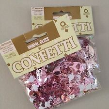 Pink Confetti Bridal Wedding Shower Shiny 2 Packages Dove Umbrellas Heart Amscan