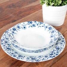 Sabichi Blue Bramble 12 Piece Porcelain Dinner Set NEW