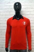 Maglia Polo Manica Lunga BIKKEMBERGS Uomo Taglia S Camicia Bicolore Shirt Man
