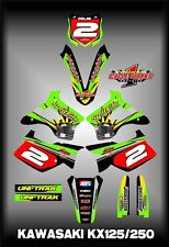 Kawasaki KX125-250 94-98  SEMI CUSTOM GRAPHICS KIT SPLITFIRE ONE