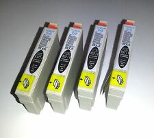 4 BLACK PRINTER INK CARTRIDGES FOR EPSON STYLUS DX4000  DX4050  DX4400  DX4450