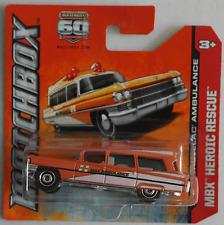 MATCHBOX -'63/1963 Cadillac Ambulance/ambulanza orangemet. Nuovo/Scatola Originale