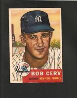 1953 Topps # 210 Bob Cerv Vg-Ex