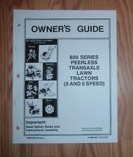MTD 600 SERIES LAWN TRACTOR w / 3 & 5 SPEED PEERLESS TRANSMISSION OWNERS MANUAL