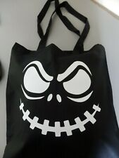 Scary Face Cotton Tote Bag Shopper Birthday Gift Present Funny Halloween Horror