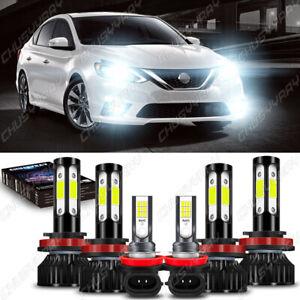 For Nissan Sentra 2013 -2018 2019 LED Headlights High/Low Beam+Fog Bulbs Combo