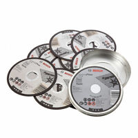 "10 x BOSCH 115mm (4-1/2"") Thin Slit 1.0mm Inox Cutting Discs/Blades, 2608603254"