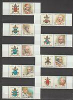 s37349 VATICANO MNH** 2000 Papi III 9v