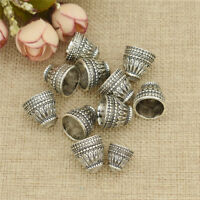 10x Silver Pagoda Tassel Beads Caps Torus Findings Receptacle Jewelry Making