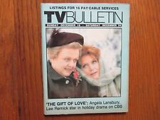 Dec 18-1983 Santa Ana Ca TV Bulletin(ANGELA LANSBURY/LEE REMICK/THE GIFT OF LOVE