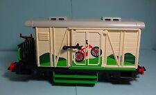 Playmobil RC Eisenbahn / Train ~ Fahrrad-Waggon / Wagen & Figur (4115) komplett