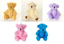 NEW - 25 X Assorted Small Cute Teddy Bears - Blue Brown Pink Purple White
