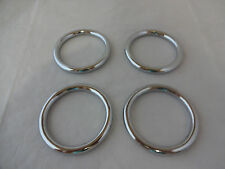 "Lot of 4 Rings Chrome over Brass Horse Tack 2"" Weaver Leather New Hardware Craft"