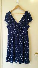 NEW Retro inspired Polka dot Ruffle dress, size 12-14
