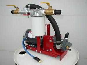 New Waste/Fuel Oil Transfer Pump,Biodiesel,WVO,Diesel,10 GPM,10 Micron,1/3 HP