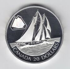 2000 Canada Bluenose $20 Silver Hologram Sterling Silver Coin