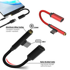 Universal 2 In 1 USB Type C to 3.5mm Jack Adapter Headphone Charger Audio Cable