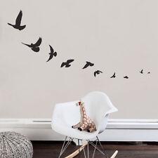 FLYING BIRDS Sparrow Swallow Vinyl Wall Decals Stickers Room Decor