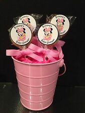 20 Baby Minnie Personalized Baby Shower Lollipops