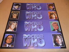 DOCTOR WHO SET OF 4 BOOKMARKS TOM BAKER PATRICK TROUGHTON JON PERTWEE McCOY DR