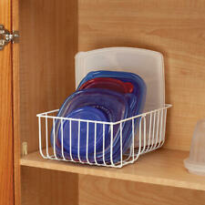 Wire Lid Organizer 2 sections Easy stacking Pot Pan Covers Kitchen Storage Rack