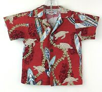 Pacific Legend Hawaiian Aloha Shirt Toddler Size 12 Months Turtles Surfboards