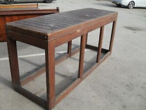 large antique church alter table stand kitchen island chopping block  drinks bar