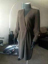 AUTH A-K-R-I-S WRAP STYLE WOOL DRESS Sz 8 US