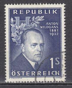 AUSTRIA used 1957 SC# Nr 616  Anton Wildgans - poet