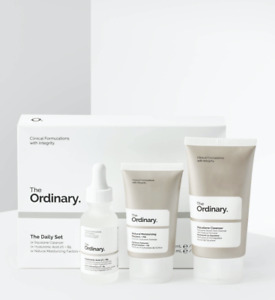 The Ordinary The Daily Set 3 Pieces Squalene Cleanser Hyaluronic Acid NEW