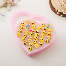36pc Wholesale Mixed Lots Cute Cartoon Children/Kids Resin Lucite Rings & Box 2#