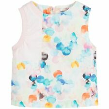 NO ADDED SUGAR Girls Blue & Pink Cotton Blouse - Size 7-8 Years