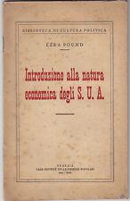 Ezra Pound natura economica S.U.A. 1944 America fascismo RSI Repubblica Sociale
