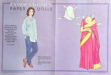 Benazir Bhutto, Magazine Paper Doll, 1991, International Doll World