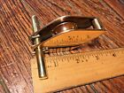 """NEW OLD STOCK VINTAGE BRONZE STEMHEAD PULLEY BLOCK/CLEAT 1 1/4"""" SHEAVE 3/8"""" LINE"""