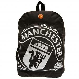 Manchester United FC / Man Utd Official Black Nylon Backpack School Bag Present
