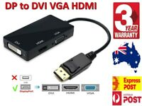 3 in 1 DisplayPort DP to HDMI DVI VGA Audio USB Adapter Converter Cable with 4K