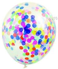 3 Rainbow Confetti Party Balloons..30cm...Unicorn Party Ceiling Decorations