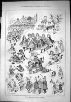 Old Sporting Dramatic News 1884 May Festival Winsford Cheshire Babes Victorian