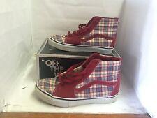 Vans Vault Sk8 Hi Prima Plaid Red Size 9 Used Supreme