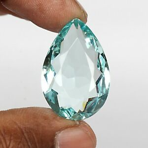 Pear Cut Blue Aquamarine 52.00 Ct. 33 mm Faceted Loose Gemstone For Jewelry