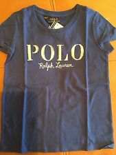 Ralph Lauren Dark Blue POLO Shirt Girls/boys Sz 5 NWT $25.00 100%cotton